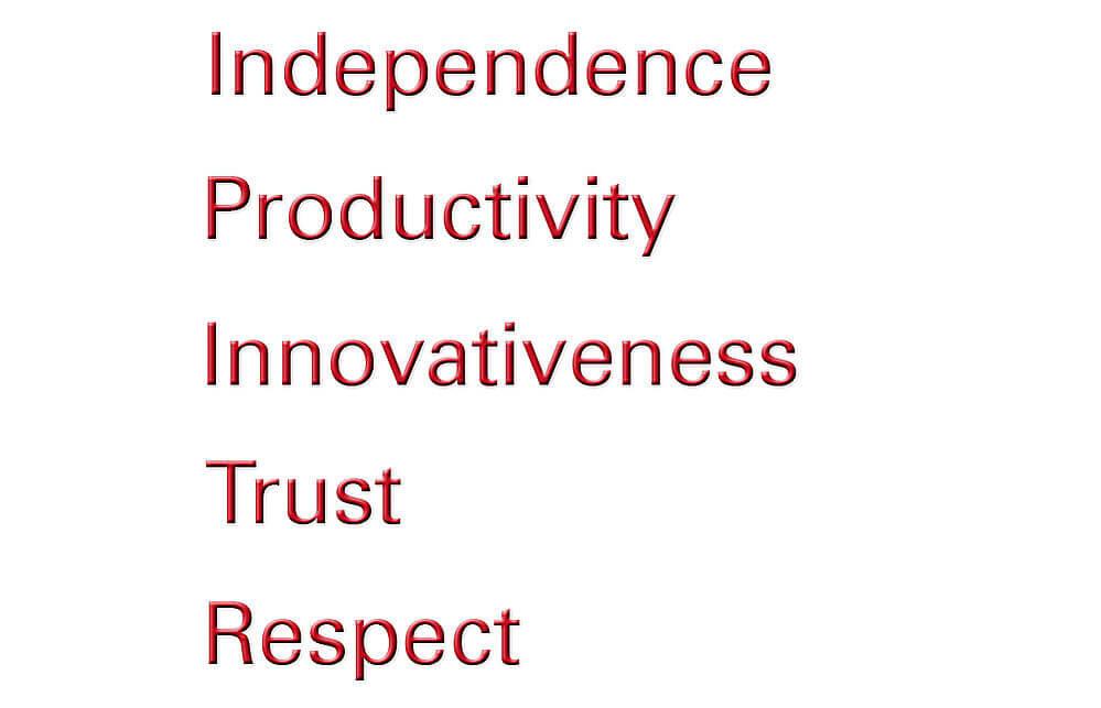 Unternehmenskultur Unternehmenswerte englisch