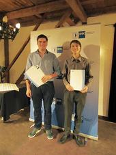 Roman Neuner (links) und Marco Rohrseitz wurden von der IHK für IHre hervorragenden Ergebnisse geehrt.