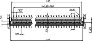 Abmessungen One27 Federleiste gerade H9,05 32-polig