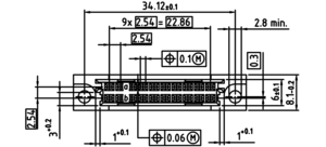 DIN B3 FL 20 polig Zeichnung Abmessungen3
