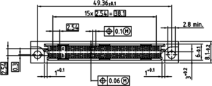 DIN B2 Einpress FL Zeichnung Abmessungen3