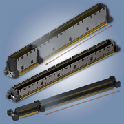 Das Colibri High-Speed-SMT-Steckverbindersystem ist in den Polzahlen 40 bis 440 sowie mit Leiterplattenabständen von 5 und 8 mm erhätllich.