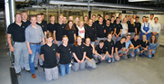 The 36 new apprentices from ept in Peiting and Buching together with their instructors (front row): Tobias Kuhn, Morris Demmler, Jasmin Ritter, Jessica Wetzler, Florian Blank, Josephine Marby, Simon Heitler, Elias Härtle, Simon Weindl, Anna Holzmann, Magdalena Götz (back): Tobias Gschmeißner, Christian Emter, Martin Gierlinger, Tim-Marvin Schmidt, Andreas Dörfler, David Wrinskelle, Florian Müller, Fahrettin Cingir, Katharina Huber, Maria Schleich, Magdalena Wölfl, Alexandra Schillhorn, Simone Kees, Sabrina Kösl, Tobias Lahner, Thomas Schwab, Marco Mair, Michael Fischer, Rudolf Lutz, Antonio Getrost, Marco Spranger, Lukas Brandl, Dominik Groß, Samira Kittner, Marco Socher, Dominik Rieger, Doris Strauß, Konrad Socher, Jawid Hakimi, Heide Ramminger, Marc Ramminger, Tobias Schweinböck, Jürgen Nieberle