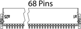 One27 Messerleiste abgewinkelt 68-polig