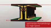Colibri SMT-Steckverbinder mit HighSpeed Kontaktdesign