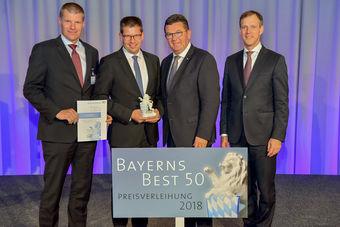 Urkundenübergabe bei Bayerns Best 50 mit der Firma ept
