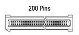 Abmessung EC.8 gerade 200-polig