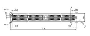 Abmessungen EC.8 gerade mit Kodierung 140-polig