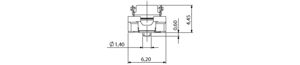 Colibri Plug 5mm 440-polig Abmessungen