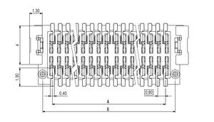 Abmessungen Zero8 Plug gerade ungeschirmt 12-polig