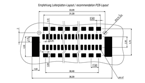 Abmessungen Zero8 Plug gerade geschirmt 80-polig