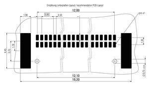 Abmessungen Zero8 Socket gewinkelt ungeschirmt 32-polig