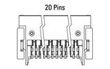 Abmessung Zero8 Socket gewinkelt 20-polig
