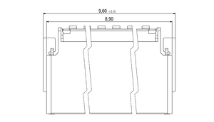 Abmessungen Zero8 Socket gewinkelt geschirmt 12-polig