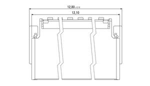 Abmessungen Zero8 Socket gewinkelt geschirmt 20-polig