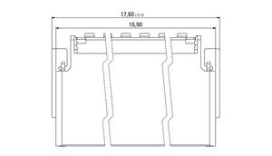 Abmessungen Zero8 Socket gewinkelt geschirmt 32-polig