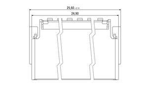 Abmessungen Zero8 Socket gewinkelt geschirmt 52-polig