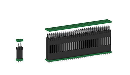 flexilink Leiterplattenverbinder in Einpresstechnik