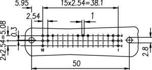 DIN R2 ML Lochbild